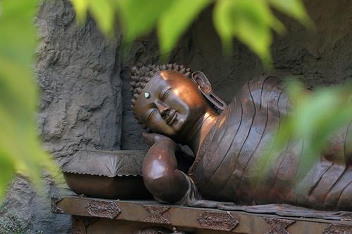 Liegender Buddha in der botanika